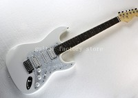 Wholesale White ST signature stylerosewood fingerboard stratocaster electric guitar free shipping