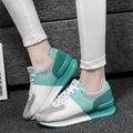 New 2016 Women Casual Shoes high quality Breathable Mesh Shoes increased high spell color Flats Women's Swing Shoes Flat zapatos