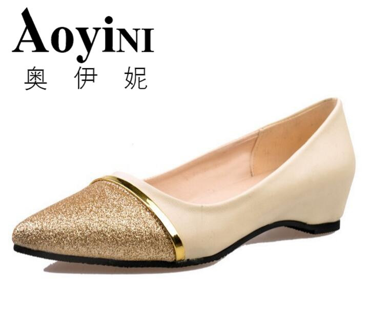 2 Color Pointed Toe Flats Shoes Women Slip-On Comfortable Single Casual Flats Spring Autumn Women Shoes Size 36-39 zapatos mujer spring summer women flat ol party shoes pointed toe slip on flats ladies loafer shoes comfortable single casual flats size 34 41