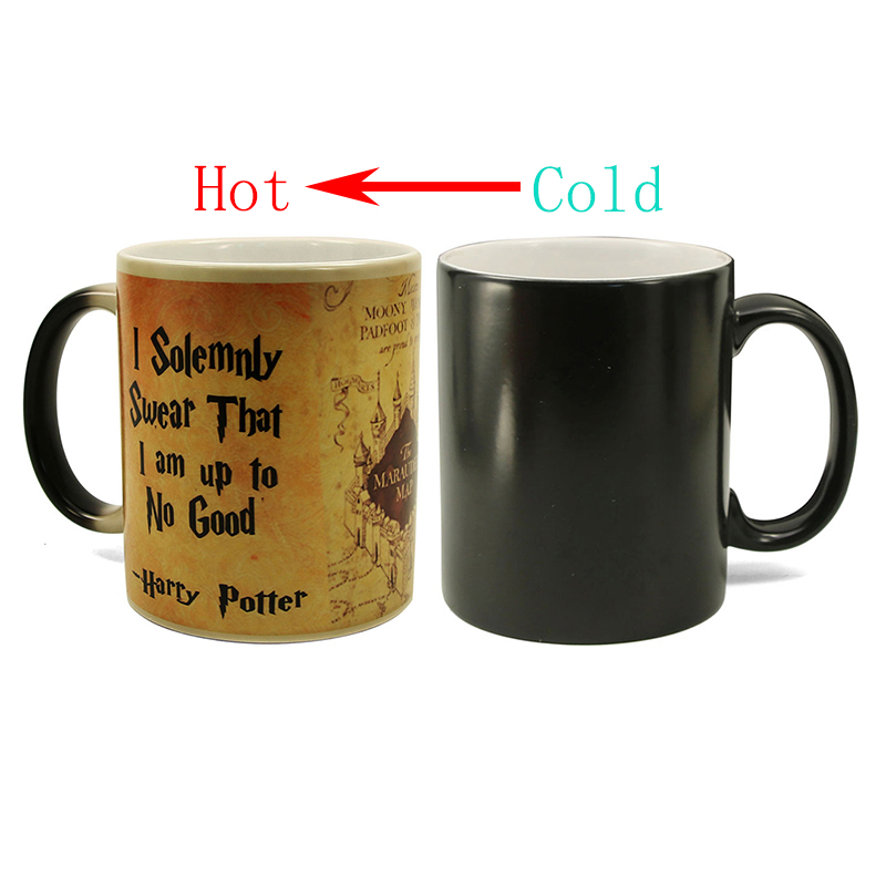 1Pcs New Hot Magic Mug Harry Hot Drink Cup Color Changing Mug Potter Marauders Map Mischief Managed Wine Tea Cup Creative Gifts Кубок