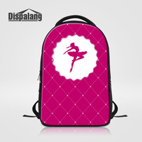 Dispalang Large Capacity Laptop Backpack For Women Ballet Girls Print School Bags For Teenagers Lady Travel
