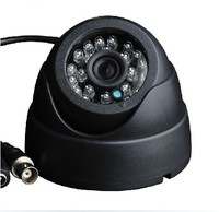 Free Shipping Surveillance 1 3 CMOS 800TVL Night Vision 20 Meters Color IR Indoor Dome CCTV