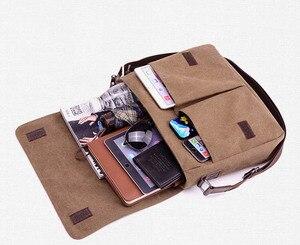 Image 4 - 새로운 도착 남자 노트북 어깨 가방 남자 캔버스 비즈니스 컴퓨터 가방 럭셔리 디자이너 서류 가방 파일 패키지 여행 레저