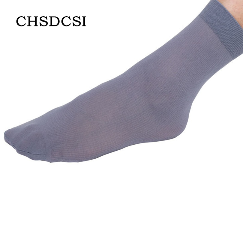 CHSDCSI Business Man Nylon Socks Comfortable Black Grey Casual Socks Breathable High Quality Anti-Bacterial Deodorant Men Socks