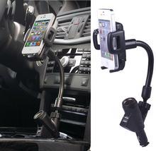 # Dual USB Прикуривателя Автомобильное Зарядное Устройство Мобильного Телефона Стенд Держатель Для iPhone Смартфон GPS