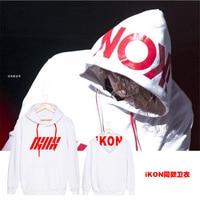 2016 IKON Nippon Budokan Kpop Same Printing Letters Sweatshirt For Men Casual Women Pullover Hoodies Concert