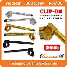 CNC Motorcycle Universal 36mm Clip Ons Fork Handle Bars handlebars 1 pair