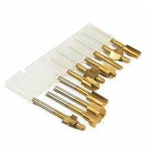 """1/8 """"HSS Holz Router Bits Dateien Titan Beschichtet Mini 3mm Holz Cutter Fräsen Passt Dremel Rotary Set Carpenter werkzeug mit Fall"""