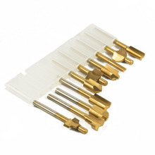 "1/8 ""Hss Hout Frezen Bestanden Titanium Coated Mini 3 Mm Hout Cutter Frezen Past Dremel Rotary Set Timmerman tool Met Case"