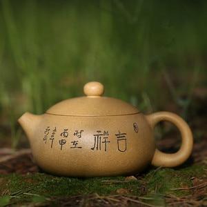 Image 5 - 200ML Yixing קומקום זישה Xishi קומקום בעבודת יד עם אריזת מתנה חליפת Tieguanyin Puer תה שחור