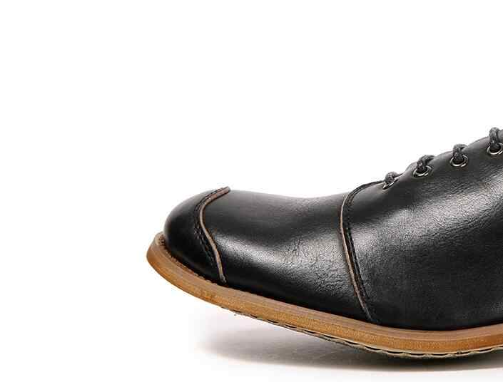 many choices of real quality beautiful in colour Japan Style Men's Dress Shoes Genuine Leather Lace Up Soft Sole Vintage  Handmade Sewing Patchwork Smart Casual Shoes Man Oxfords