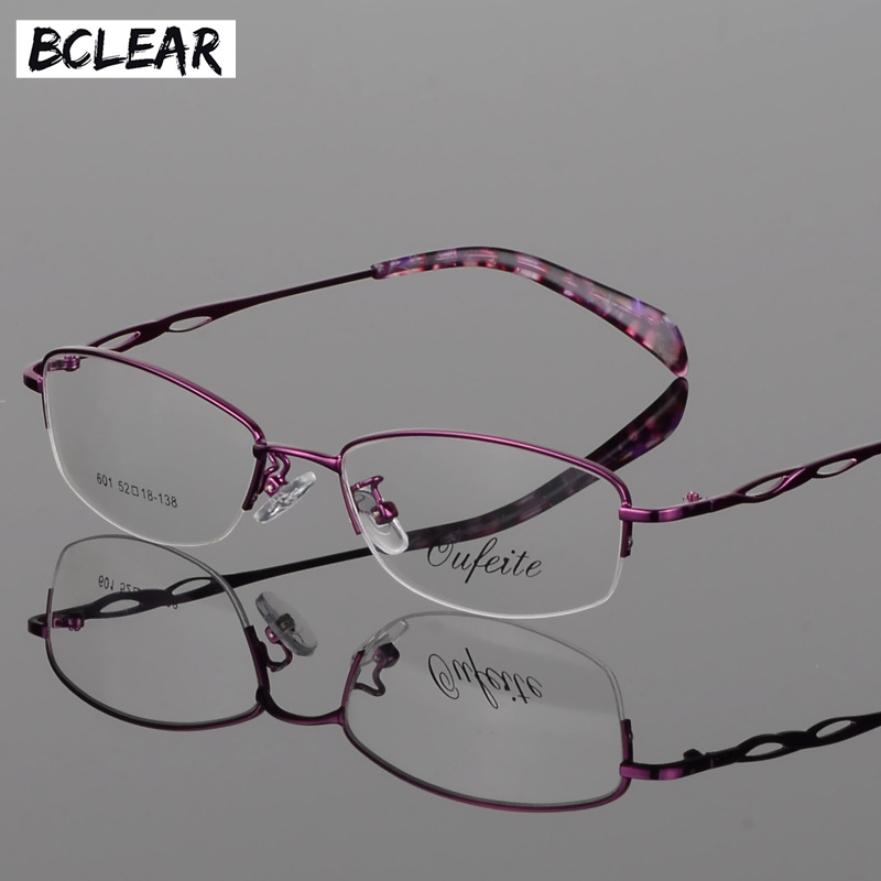 BCLEAR 2018 Hot Retro Luxury Women Glasses Frame Clear Lens Alloy Lady Eye Glasses Floral Optical Frames Vintage Female Eyewear