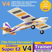 FMS RC Flugzeug 1220mm Super EZ V4 Trainer Anfänger Mit Gyro Schwimmt Optional 3S 4CH PNP Modell Hobby flugzeug Flugzeug Avion EPO