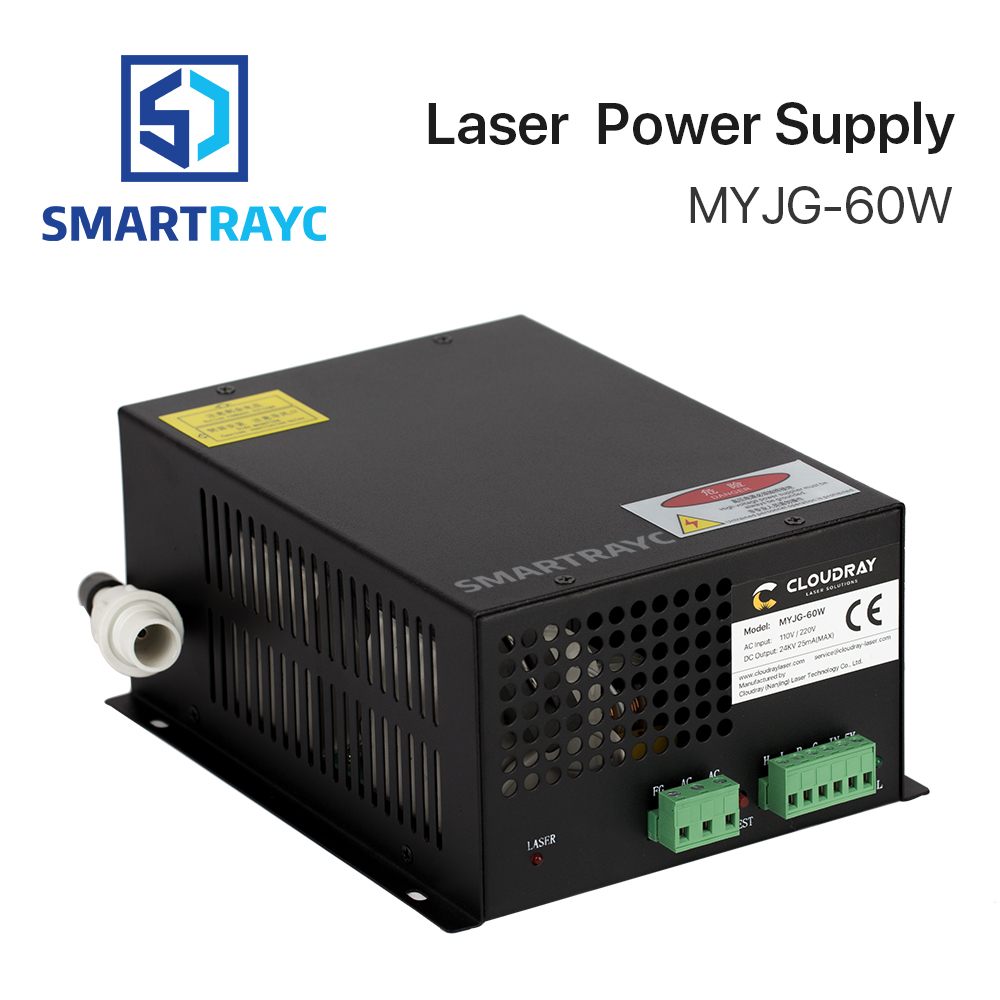 Smartrayc 60W CO2 Laser Power Supply for CO2 Laser Engraving Cutting Machine MYJG-60WSmartrayc 60W CO2 Laser Power Supply for CO2 Laser Engraving Cutting Machine MYJG-60W