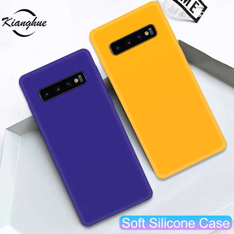 Luxury Silicone Phone Case For Samsung Galaxy S7 S6 Edge S8 S9 S10 Plus S10e Note 5 8 9 Soft Tpu Ultra Thin Case For S 8 9 7 6