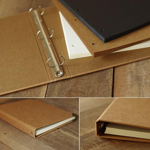 A4-es méretű, nagy méretű üres lazacos jegyzetfüzet, kézzel festett Graffiti kézzel készített Kraft DIY fotóalbum szabad DIY csomaggal a Scrapbooking számára