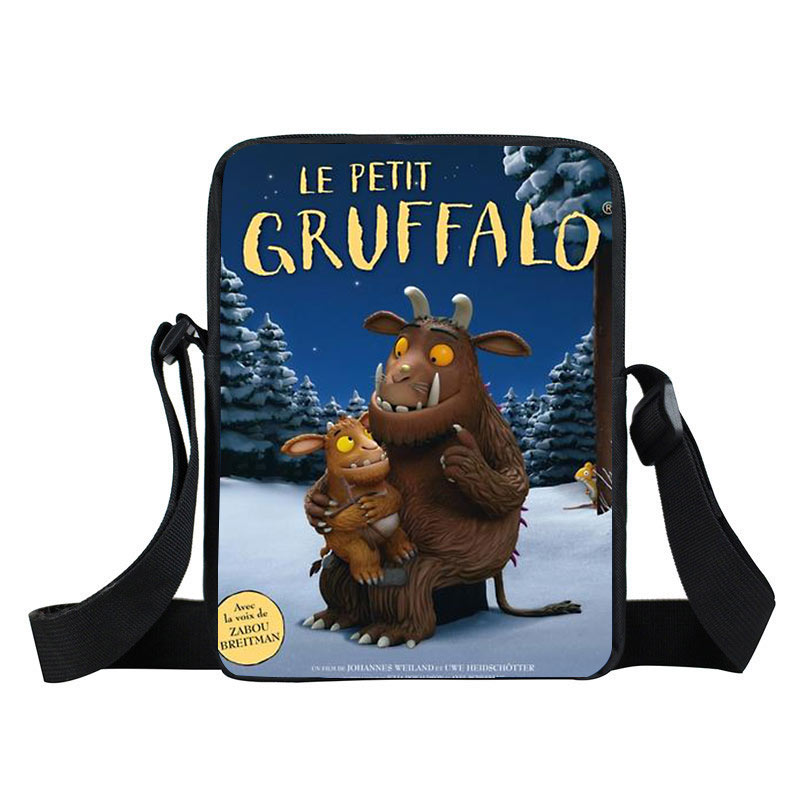 3-5 years Kids Crossbody Bag The Gruffalo pattern Small Message Shoulder Bag Daypack the gruffalo s child sticker book
