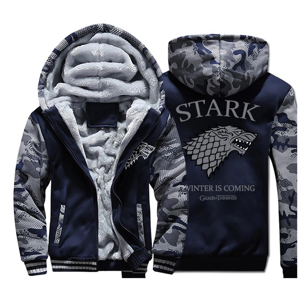 Original Brand Tace Shark Hoodies Men Casual Stand Collar Velvet Fleece Hoodie Sweatshirt Men Fashion Streetwear