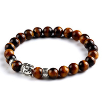Pulseras mujer black Lava stone buddha beads bracelet elastic charm bracelet rope chain Natural stone for men and women jewelry