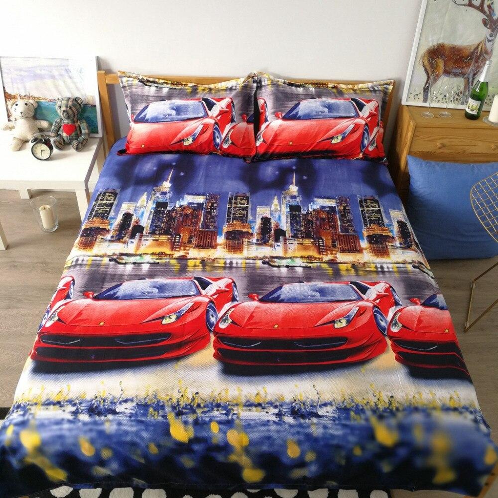 xglife City night scene 3D Bedding Set Print Duvet cover 160x210  Beautiful pattern Real lifelike bed sets Good quality pillowca