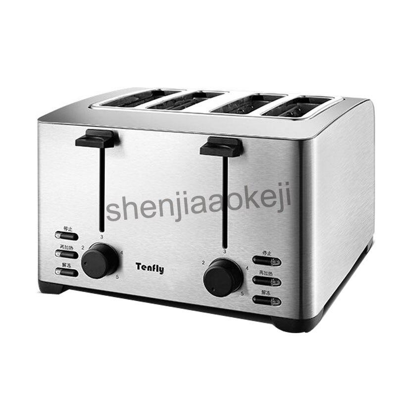Grille-pain domestique en acier inoxydable 4 tranches grille-pain machine à petit déjeuner et grille-pain commercial THT-3012B 1pc