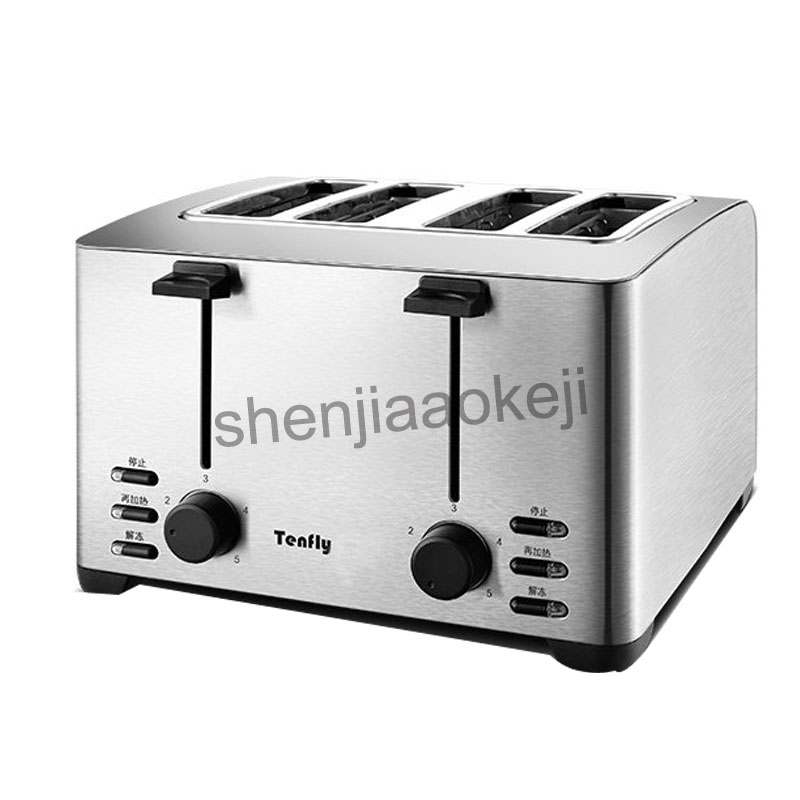 Household stainless steel toaster 4slices toaster breakfast machine  and commercial toaster THT-3012B  1pc cukyi 2 slices bread toaster household automatic toaster breakfast spit driver breakfast machine