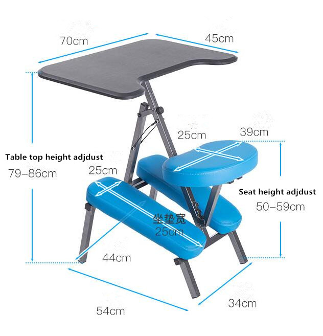 Cool Ergonomic Adjustable Kneeling Desk And Combination Chair Pabps2019 Chair Design Images Pabps2019Com