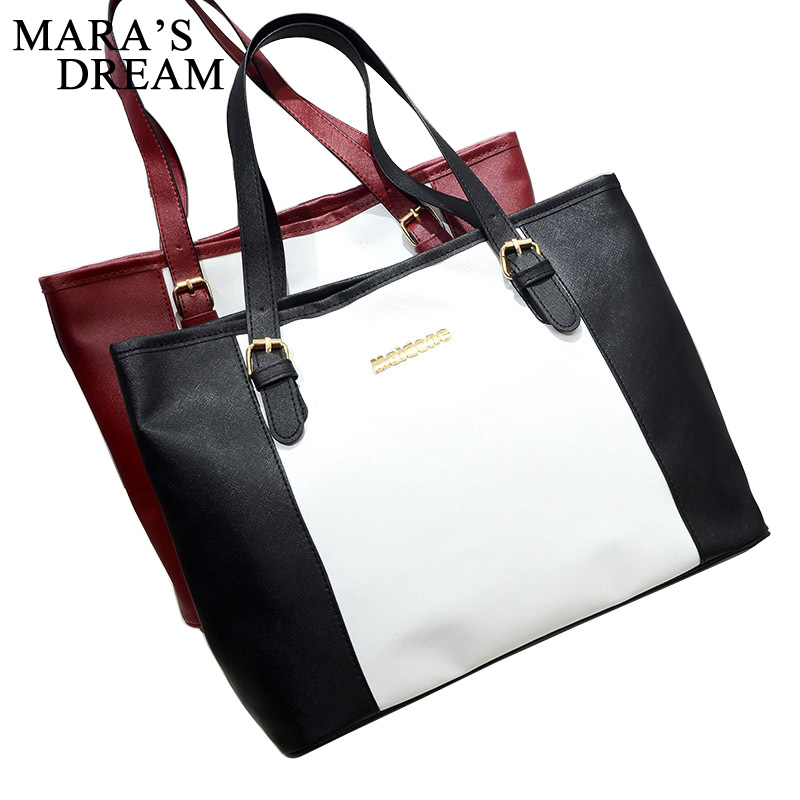 Mara's Dream Shopping Bag 2018 Fashion Women Shoulder Bags Casual Women Handbag Elegant Ladies Tote Satchel Purse Bolsa zency fashion women real genuine leather casual women handbag large shoulder bags elegant ladies tote satchel purse bolsa 2017
