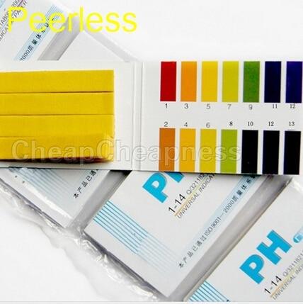 Peerless 80 Strips 1-14  PH Paper Full Range Analyzers Test Paper Strips Chemistry Teaching Supplies