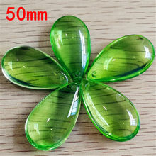 30pcs/lot 50mm Lt Green K9 Glass Crystal Prisms Pendants Chandeliers Parts Lustres Lamp Lighting Hang Drops Pendants(China)