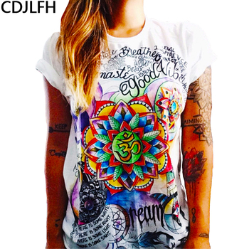2019 Summer Hot Vegan Wildflower Graphic Tees Women Harajuku Owl Graffiti Animal Printed T Shirts Plus Size Women Grunge Fashion diy crop top