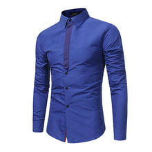 Men Shirt Luxury Brand 2016 Male Long Sleeve Shirts Casual Mens Simple Solid Single Breasted Slim Fit Dress Shirts Mens