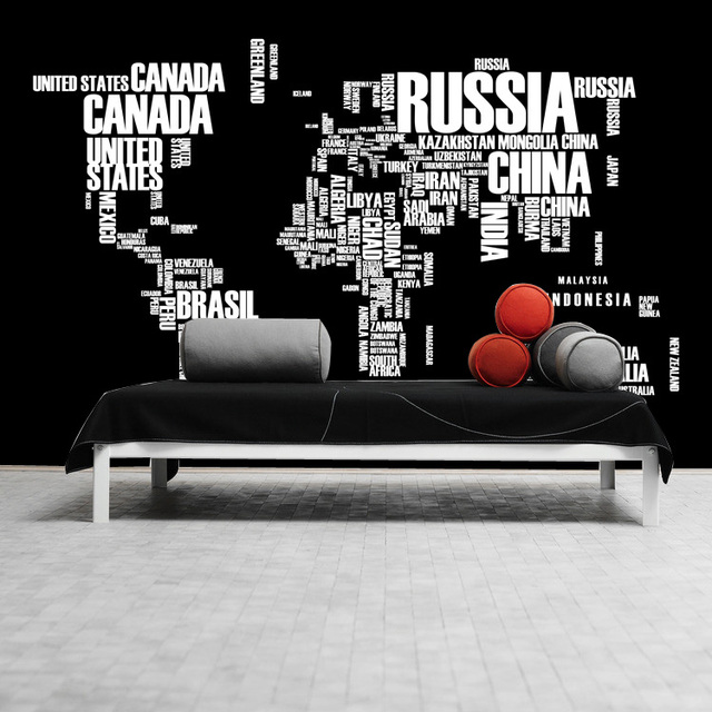 Free shipping 3d clothing store cafe restaurant black and white free shipping 3d clothing store cafe restaurant black and white letter world map wallpaper personality wallpaper gumiabroncs Images
