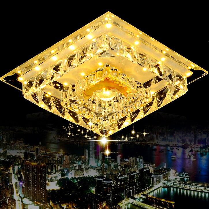 ФОТО Luxury  13W  led crystal ceiling light LED square crystal light Luxury ceiling  light  85~265V free shipping