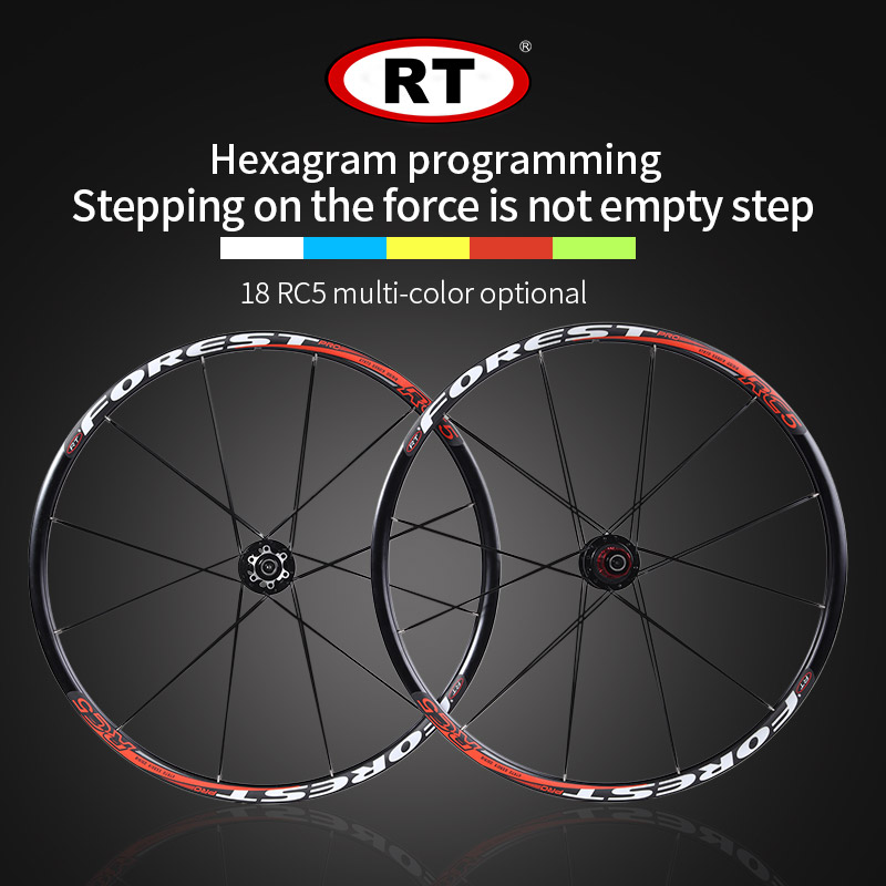 2017 newest RT Mountain Bike Bicycle Six Star Style front 2 rear 5 bearing japan hub super smooth wheel wheelset 26 27.5