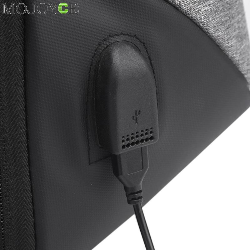 15.6 Inch Laptop Anti-theft Men Backpack With Usb Charging Headphone Interface Port Lock Business Waterproof For Work Women #6