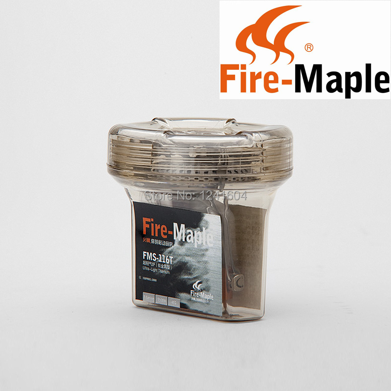ФОТО Fire Maple FMS-116T One Piece Folding Gas Stove Outdoor Climbing Ultralight Titanium Camping Stove Gas Stove Burners 48g