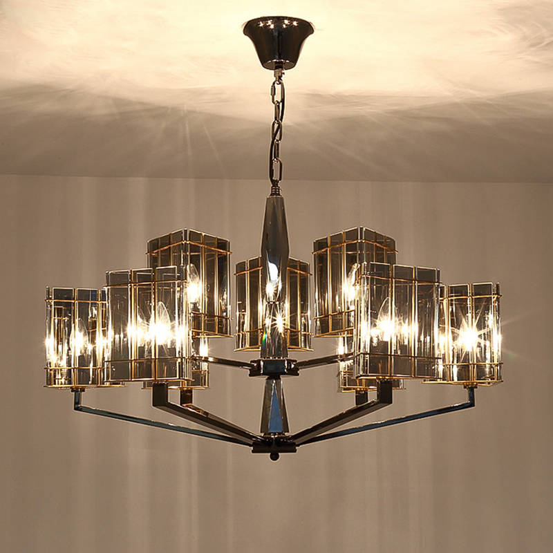 Modern LED Pendant Lights luxury 8 arm Dia.80cm Kung Dining Room Lamp Cord Pendant Lustres Light Fixtures Bar Dimming light Lamp