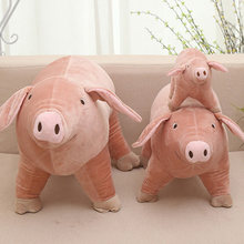 Simulation Pig Plush Toy 25/40/50 cm Plush Dolls For Children High Quality Soft Down cotton Baby Brinquedos Animals For Gift(China)