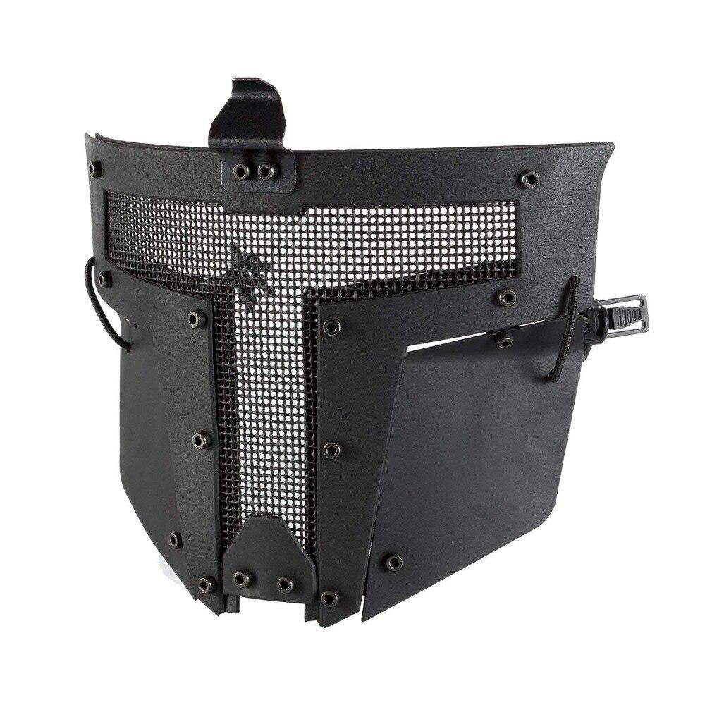Masque de maille tactique Airsoft masque en acier complet masque de casque rapide
