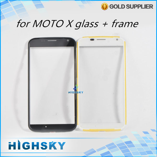 1 piece free shipping replacement parts touch screen for motorola MOTO X XT1058 XT1060 lcd glass lens with frame