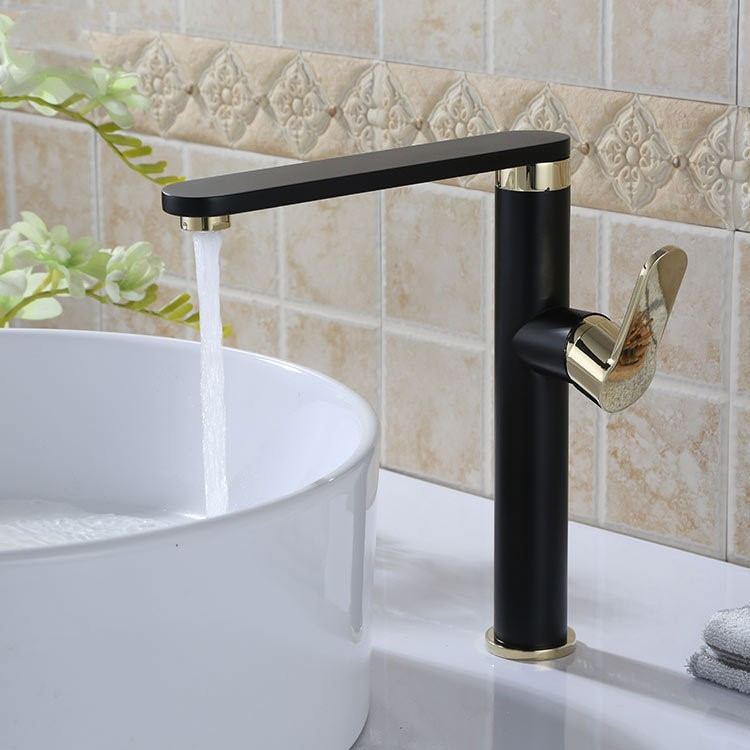 kitchen and bathroom faucets contemporary black and gold painting brass bathroom kitchen lavatory vanity vessel sink faucet 228