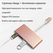 New Multiport Hub Type C USB 3.1 & USB-C to 4-Port Hub USB & VGA &r HDMI Adapter 5GBps for Macbook