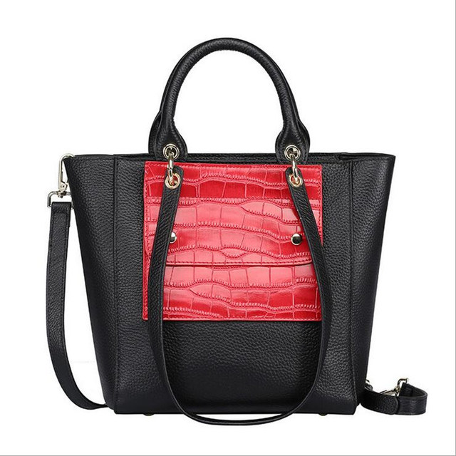 High quality Genuine Leather Women Bags women Fashion handbag quality female High capacity cow leather shoulder bag wholesale