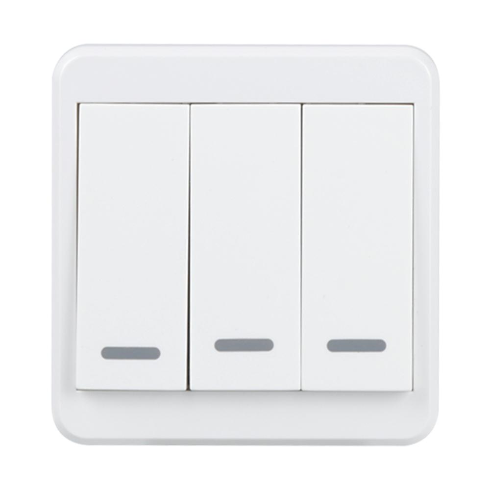 WiFi Smart Switch 3 Gang Light Wall Switch APP Remote Control with Amazon Alexa Google Home Timing Schedules UK Plug sonoff t1 us smart touch wall switch 1 2 3 gang wifi 315 rf app remote smart home works with amazon free ios and app ewelink