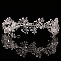 2017 Baroque crown Gold/Silver handmade rhinestone headband vintage bridal hair accessories headwear accessories crown and tiara