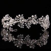 2019 Baroque crown Gold/Silver handmade rhinestone headband vintage bridal hair accessories headwear accessories crown and tiara