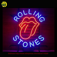 Rollling Stone Music Sign Neon Sign Bear Handcrafted Neon Bulbs Glass Tube Custom Lamp Neon Bulb