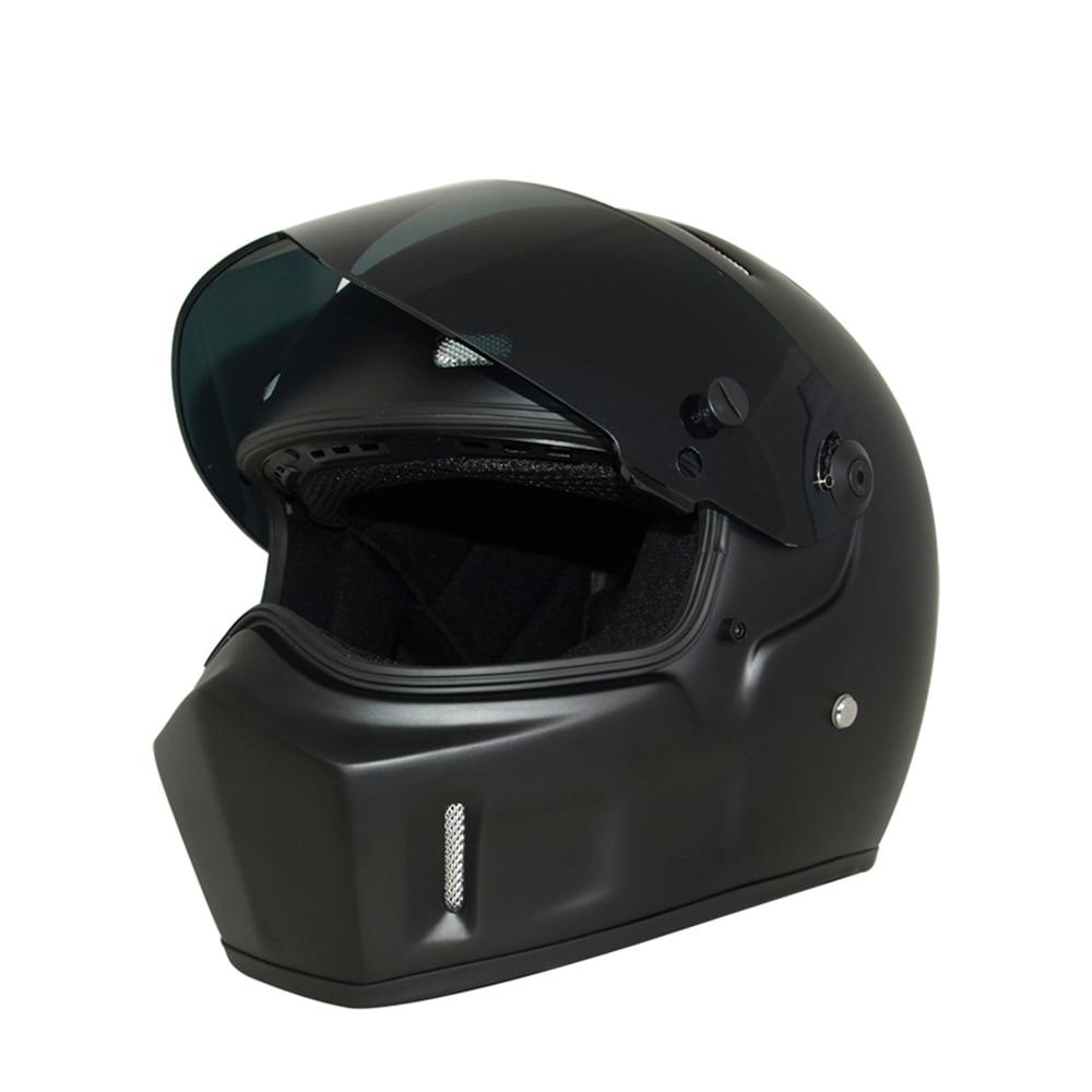 HEROBIKER Motorcycle Helmet Fiberglass Shell Karting Moto Helmet Motorbike Racing Riding Full Face Helmet with DOT Certification