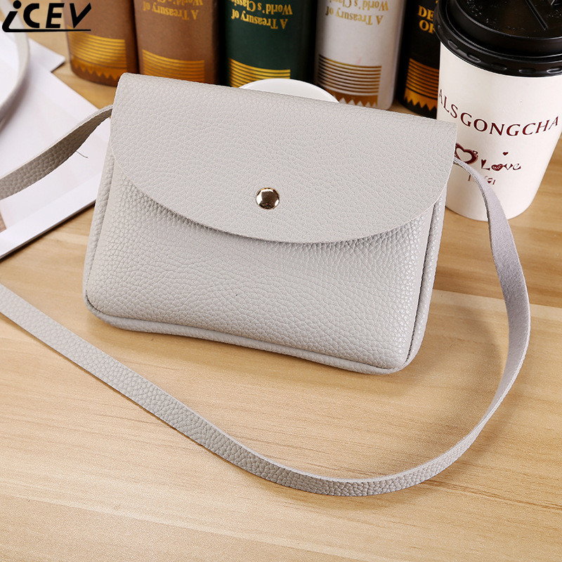 ICEV brand new pu leather small women messenger bag mini coin purse and handbag ladies shoulder bags casual day clutch bolsos 2017 fashion all match retro split leather women bag top grade small shoulder bags multilayer mini chain women messenger bags